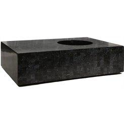GEO Tisch, 120x80/33 cm, black polished