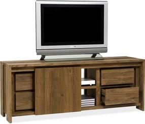 BROOKLYN TV-Bank, 160x45/60 cm, Teak recycelt