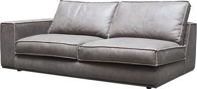 PUZZLE Sofa-Element links, 187x106/83 cm, Nubukleder taupe