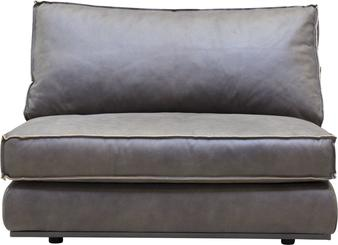 PUZZLE Sofa-Element Sessel, 106x106/83 cm, Nubukleder taupe