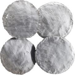 CIRCLES Wanddekoration (4er Set), 56x10/ 56cm, silver leaf