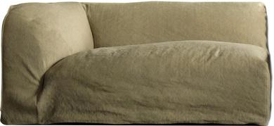 RELAX Sofa-Element links, 150x91/65 cm, seidengrau