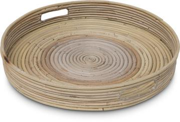 BERGA Tablet, 39x39/5.5cm, Kubu Rattan natural