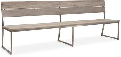 TIMBER Bank 260x61,2x90 cm, Teak vintage-grau