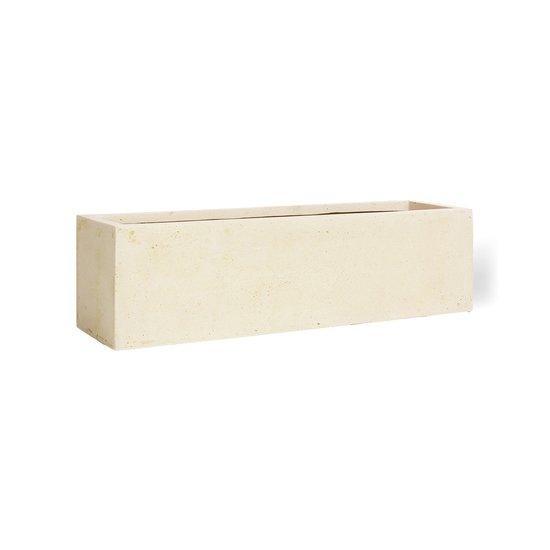 POLYSTONE FLOWERBOX table top planter, 65x18/18 cm, crème