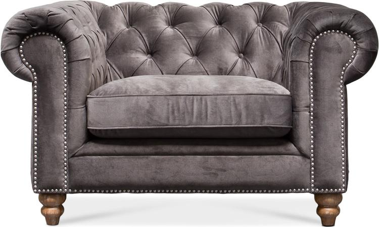 tingo living chester sofa einsitzer 134x97 76 cm samt anthrazit hochwertig exklusiv. Black Bedroom Furniture Sets. Home Design Ideas