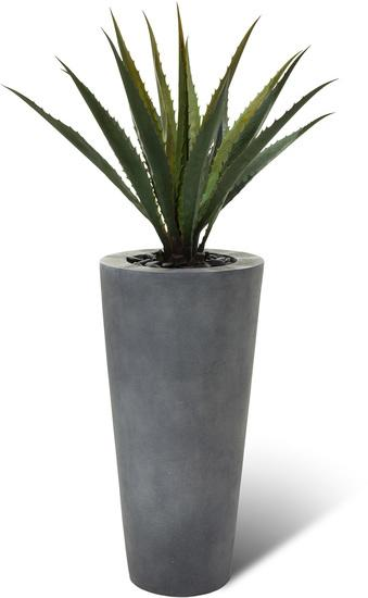 SETS BUSINESS, POLYSTONE CONICAL 45/95 cm grau, AGAVE DELUXE 95 cm