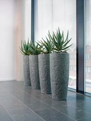 ROCKY planter, 35/79 cm, smoke-ganite L: 35 , W: 35 , H: 79 | smoke-granite