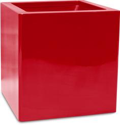 PREMIUM CUBUS planter, 40x40/40 cm, ruby red L: 40 , W: 40 , H: 40 , H: 40 | ruby red