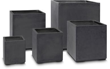 DIVISION PLUS planter, 40x40/44 cm, anthracite L: 40 , W: 40 , H: 44 | anthracite