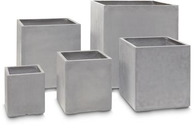 DIVISION PLUS planter, 40x40/44 cm, natural-concrete L: 40 , W: 40 , H: 44 , natural concrete